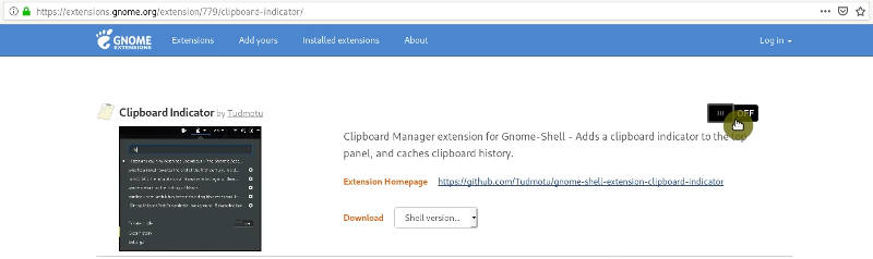 Installing GNOME Shell extension