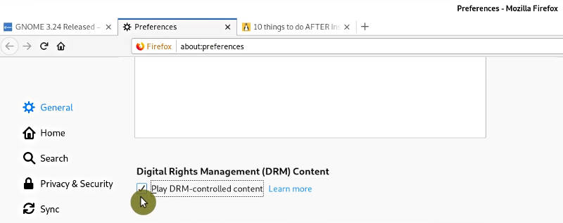 DRM support in Firefox