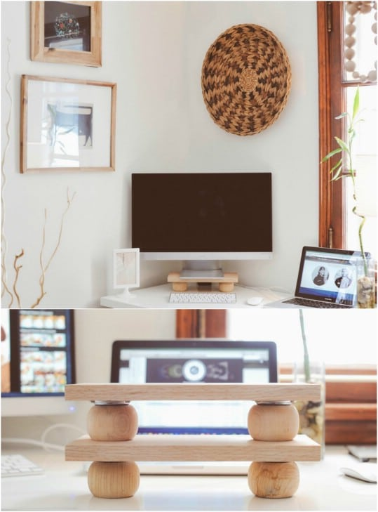 Wooden DIY Modern Monitor Stand