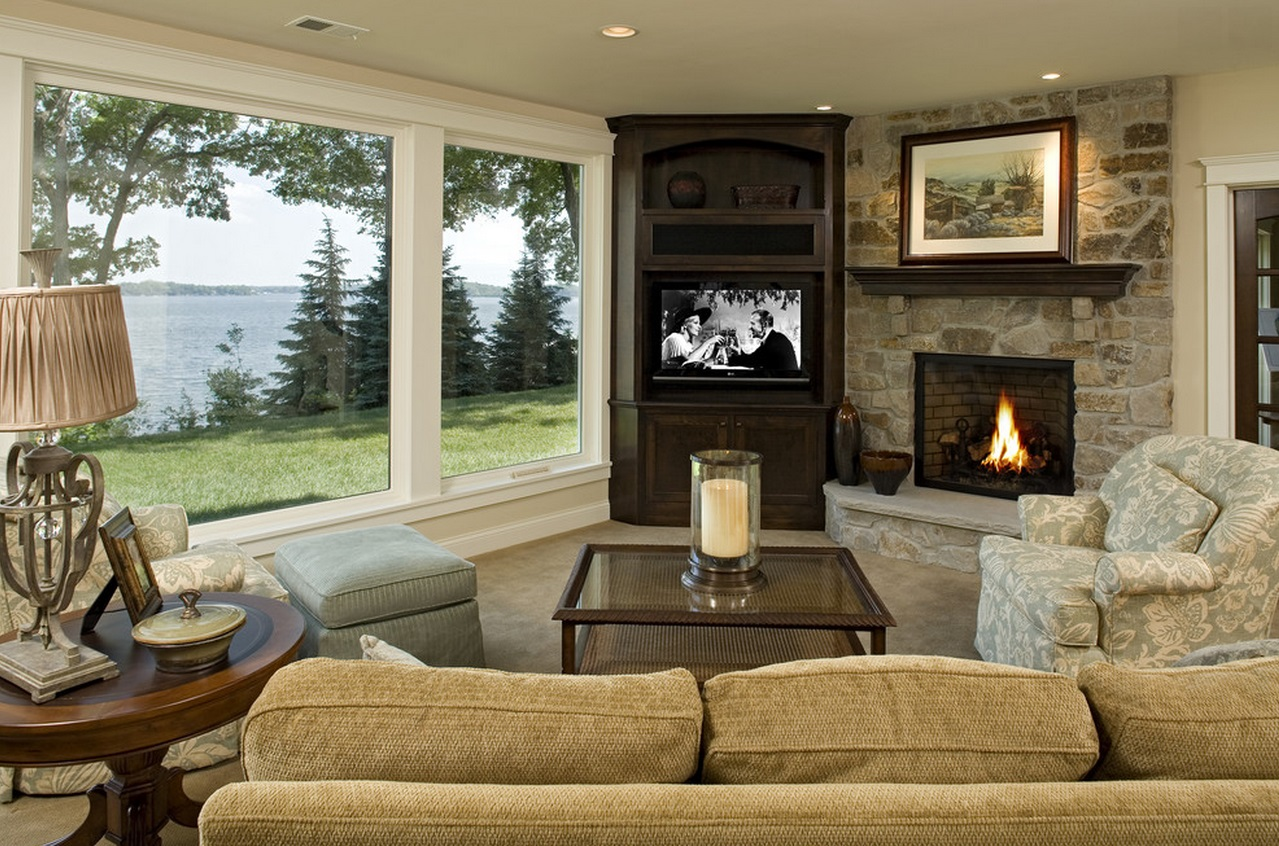 corner-TV-and-fireplace