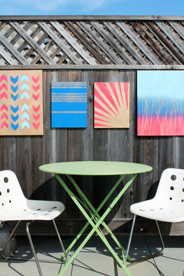 Outdoor coorful fence canvas