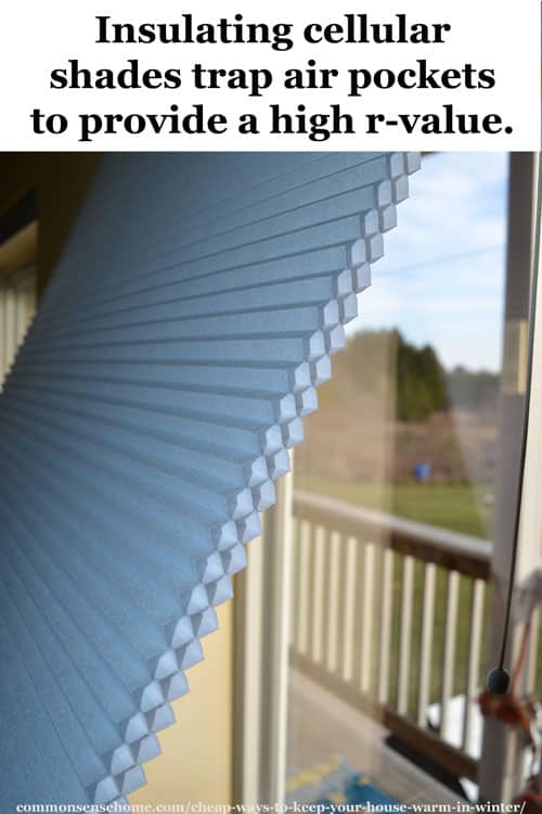 Insulating cellular shades