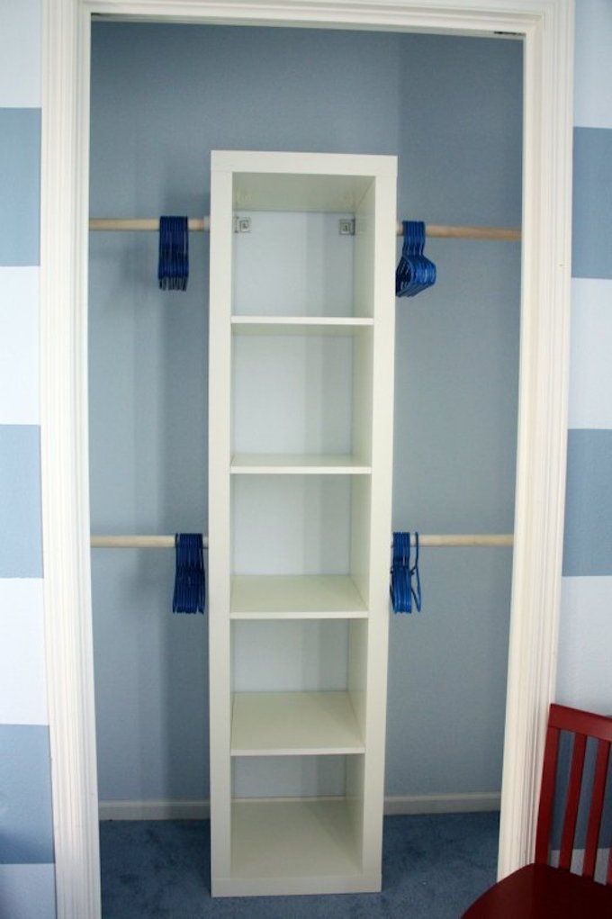 tiny wardrobe hacks iKEA