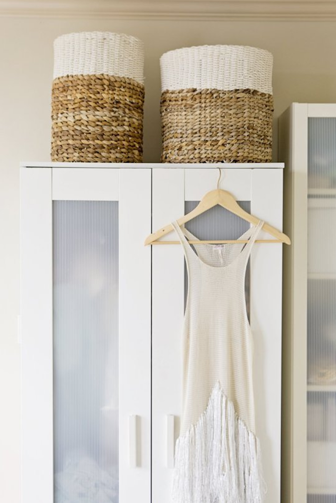 IKEA wardrobe hacks storage baskets