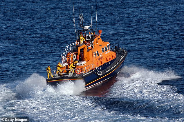 After the lifeboat crew carried out a shoreline search, the 10-year-old had floated nearly the whole distance of the bay and was found following