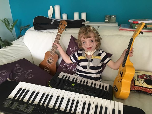 The young boy was  just nine months old when his grandfather bought him his very first keyboard