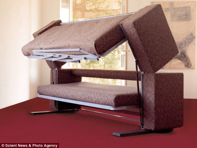 Mr Manzoni said the settee transforms into a bespoke bunk bed