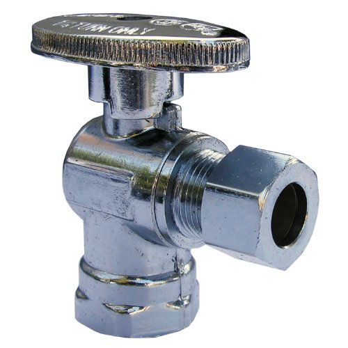 LASCO 06-9199 Angle Stop Quarter Turn Ball Valves, 3/8-Inch Iron Pipe Inlet X 3/8-Inch Compression Outlet, Chrome