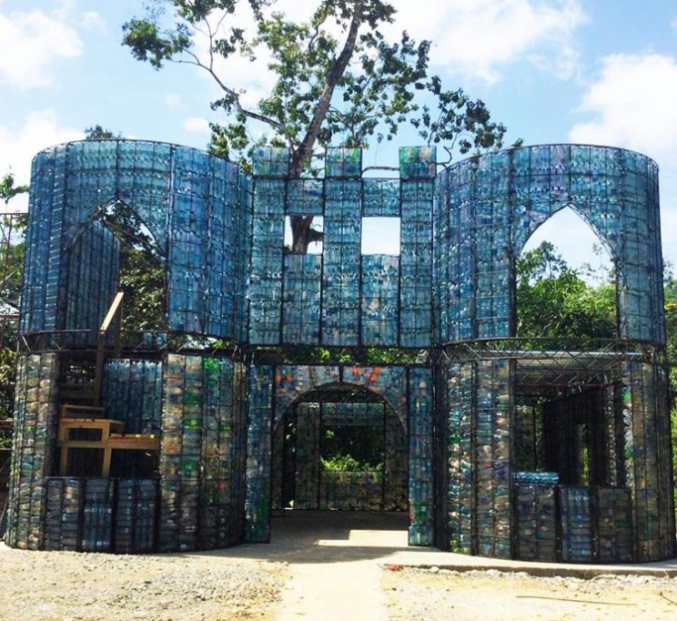 Plastic Bottle Village