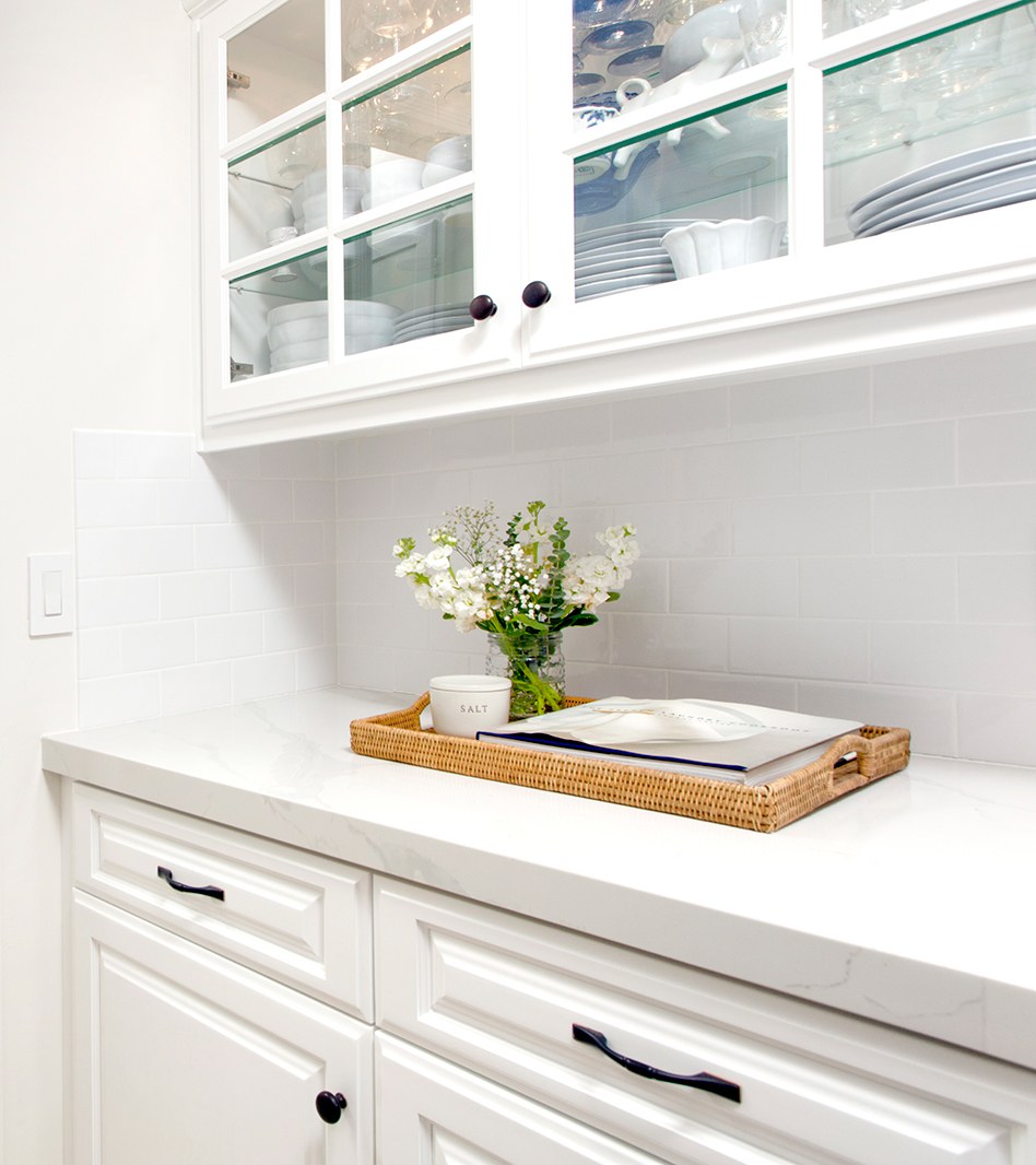 White grout with white tile