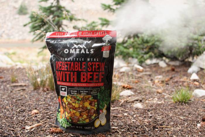 self heating backpacking meals