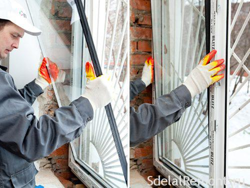 Repair of plastic windows