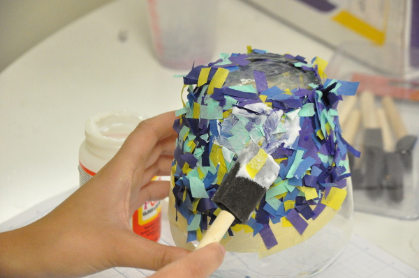 Decoupage with Tissue Paper