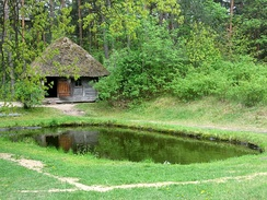 Traditional Latvian sauna from Spirēni, Nīca, Courland built in 1862, currently located at The Ethnographic Open-Air Museum of Latvia