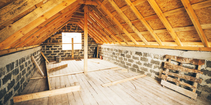 Unfinished and Uninsulated Attic