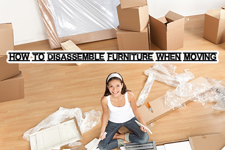 How to disassemble furniture when moving house
