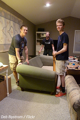 Should you disassemble furniture before moving?
