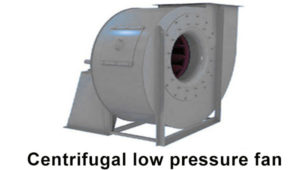 Centrifugal low pressure fan