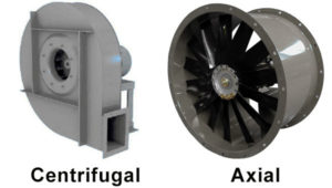 centrifugal fan vs axial fan